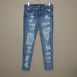 Sz 26 Rag & Bone Blue Brigade Dre Destroyed Jeans